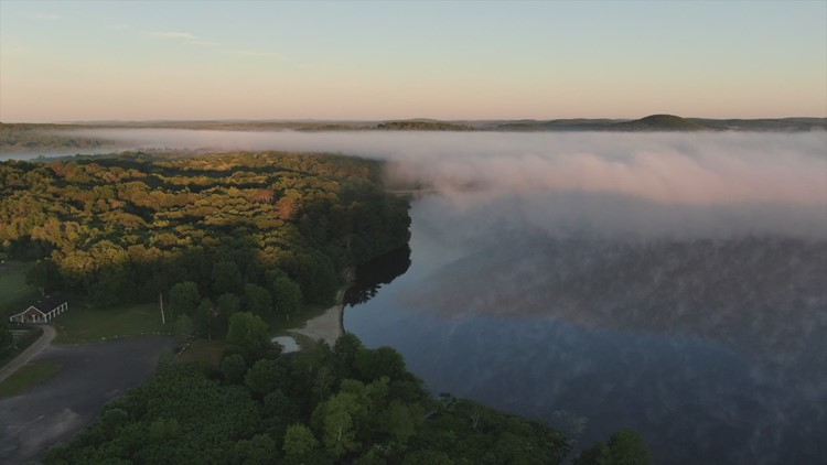 SKY61: Fog over Bantam Lake in Morris