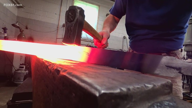 After a COVID-19 pause, bladesmithing is back and classes return to Wolcott