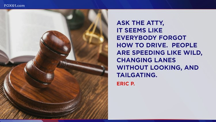 Ask the Attorney: Tailgating leads to crash