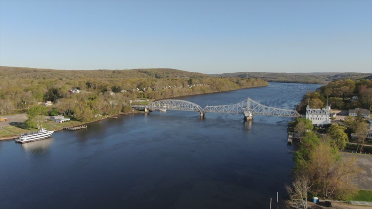SKY61 over the CT River