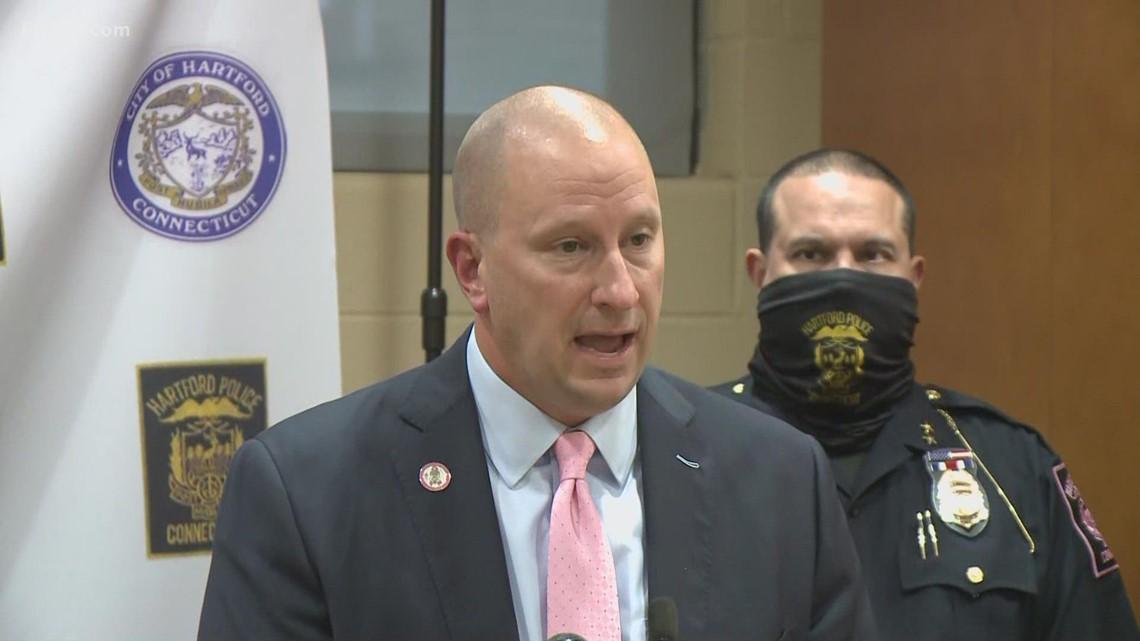 Police and Mayor speak after police officer was shot at