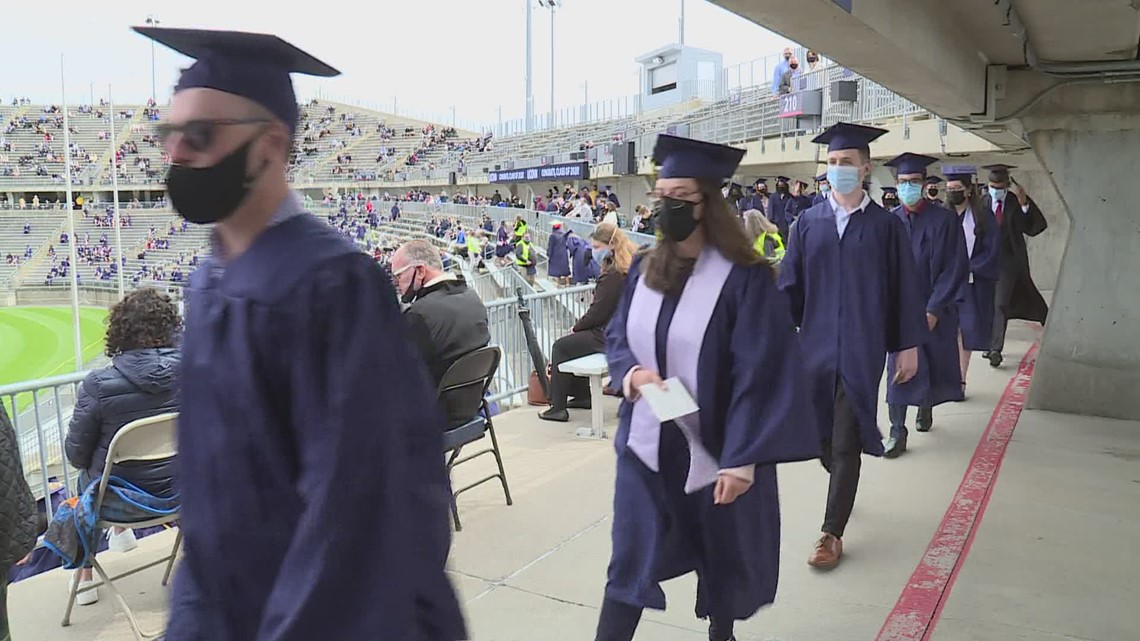 UConn graduates, from 2020 and 2021, get to walk and get vaccinated at commencement ceremony