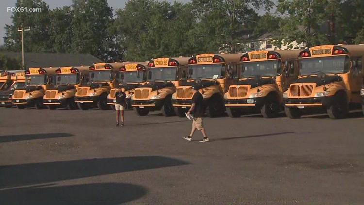 Bus company 'borrows drivers' to ensure Hamden school routes covered for second day of classes