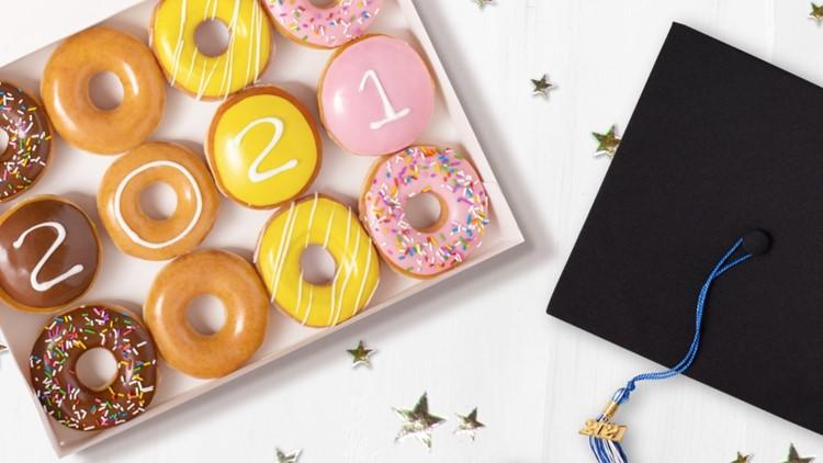 High school seniors can score a free dozen from Krispy Kreme on Thursday