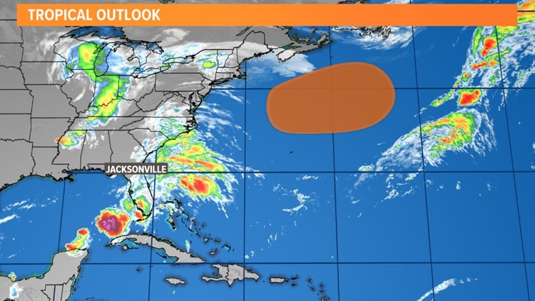 Hurricane Sam, a Cat 4, turning northwest over the open Atlantic