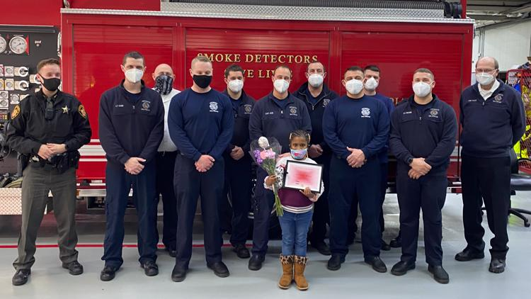 6-year-old Ohio girl saves family members from house fire
