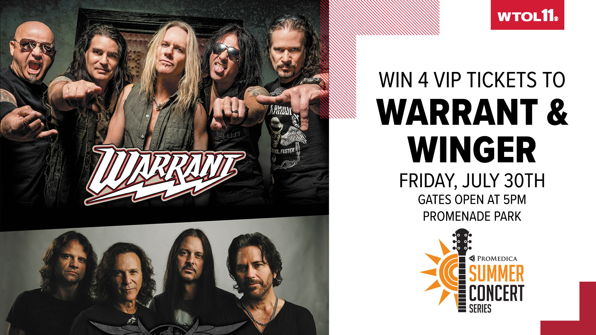 Win tickets to Warrant & Winger