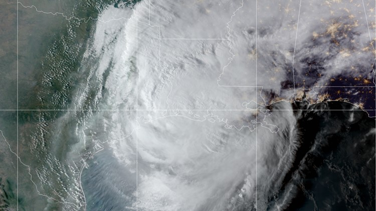 Hurricane Delta makes U.S. landfall on the southwest coast of Louisiana