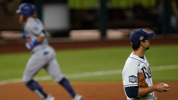 Dodgers take World Series lead after Rays lose Game 3