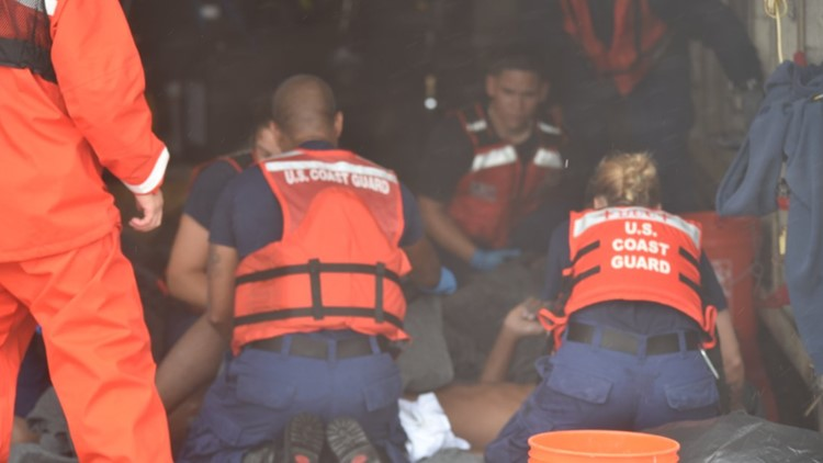 Coast Guard: 9 people missing in waters south of Key West