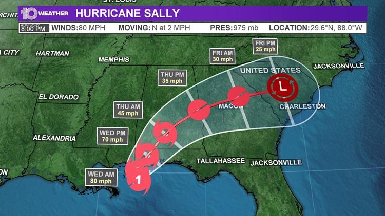 Tropics: Hurricane Sally causing widespread flooding