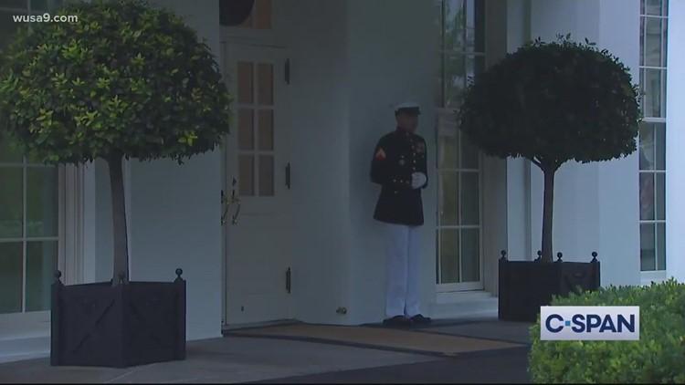White House Marine's response to lightning strike goes viral