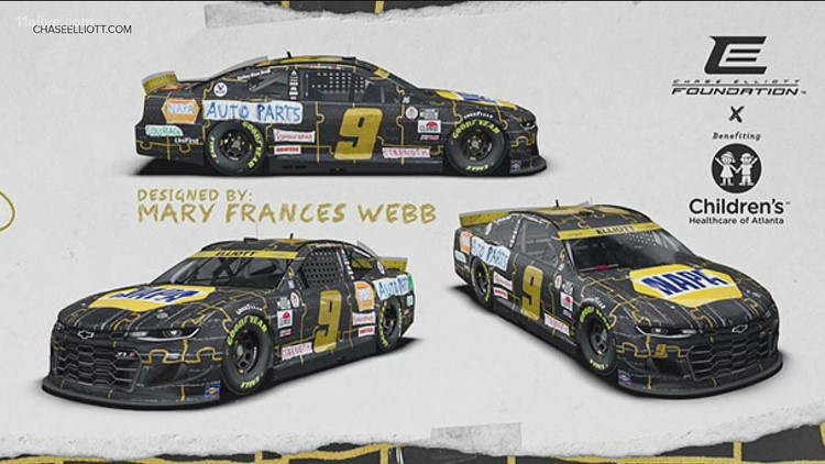 Cancer patient's artwork will wrap Georgia NASCAR driver's car in upcoming race