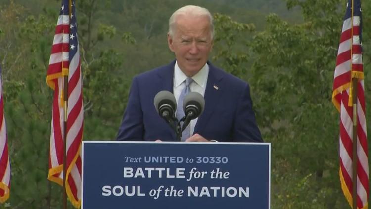 Biden in Georgia stresses healing, unity