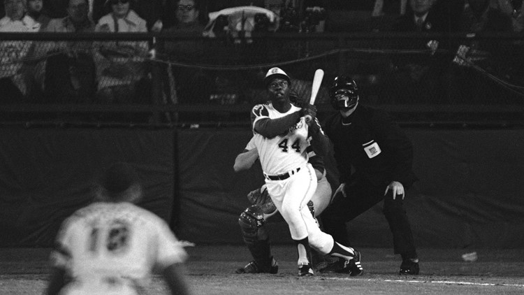 Watch the moment Hank Aaron broke Babe Ruth's home run record