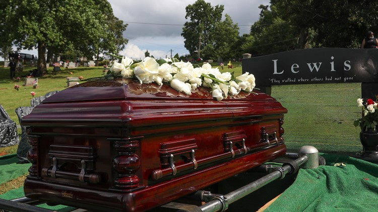 John Lewis laid to rest in final farewell in Atlanta