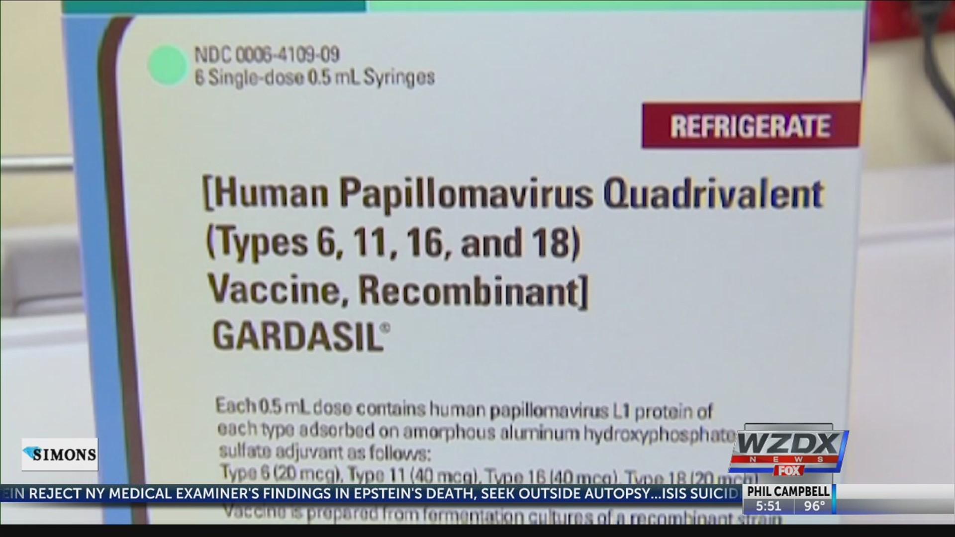 Ndc human papillomavirus vaccine.
