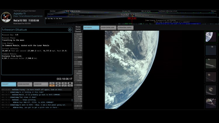 Witness Apollo 11 in real time…online