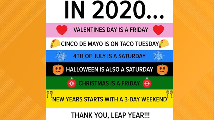 Halloween Holiday 2020 Thank you, Leap Year! Perfect holiday line up in 2020