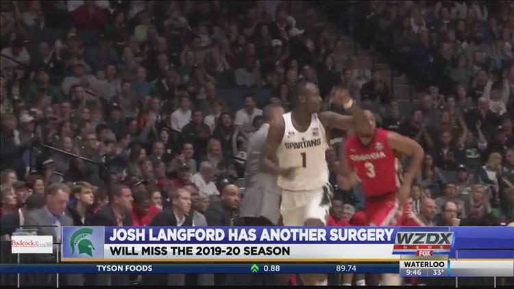 Joshua Langford has foot surgery, will not return in 2019-20