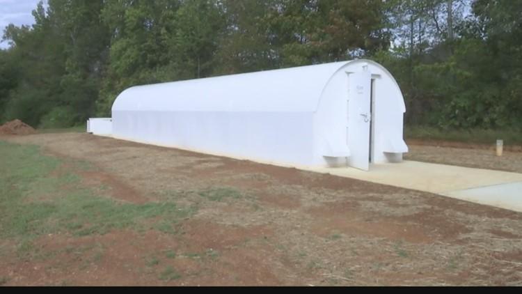 Social distancing isn't guaranteed inside storm shelters
