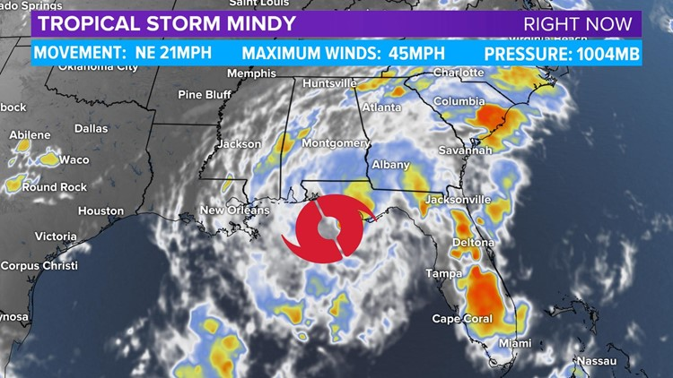Tropical Storm Mindy forms in the Gulf