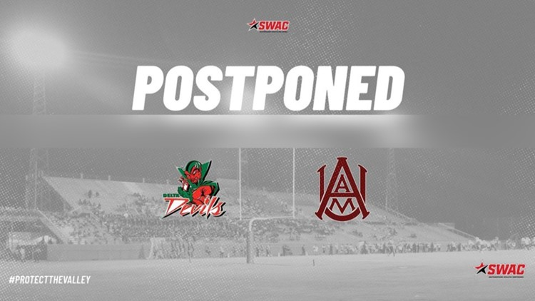 Alabama A&M vs Mississippi Valley State postponed until April