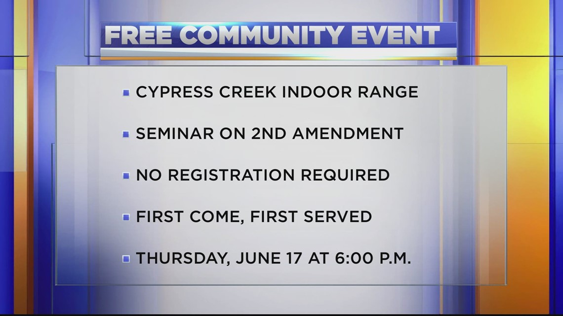 Free community education event at Cypress Creek Indoor Range