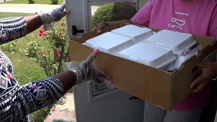 Local church helps feed the community with food boxes and hot meals