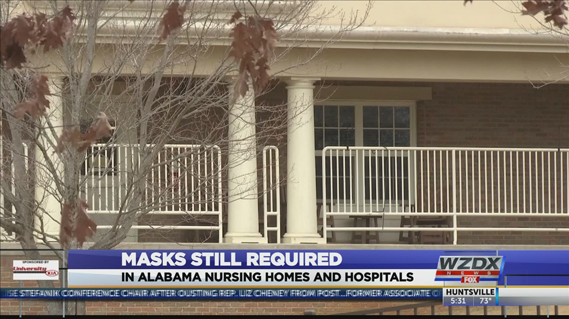 Alabama nursing homes, hospitals still under federal mask requirements