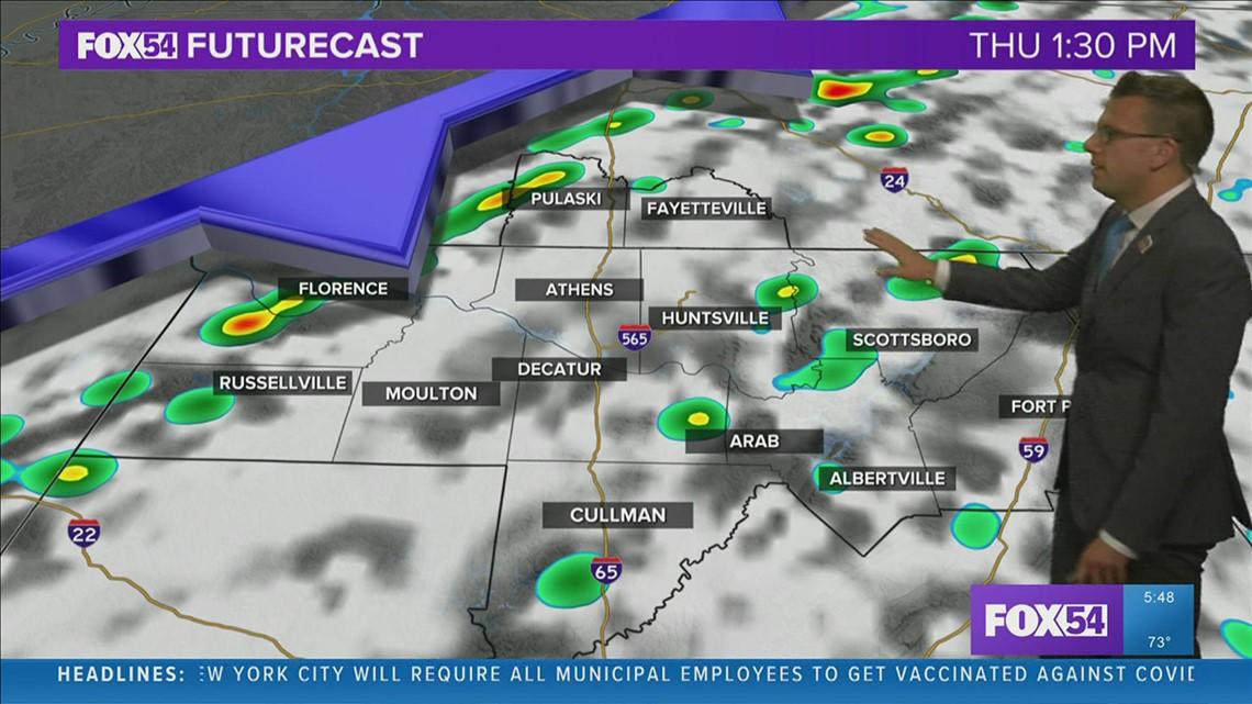 Cold Front Brings Rain Chances