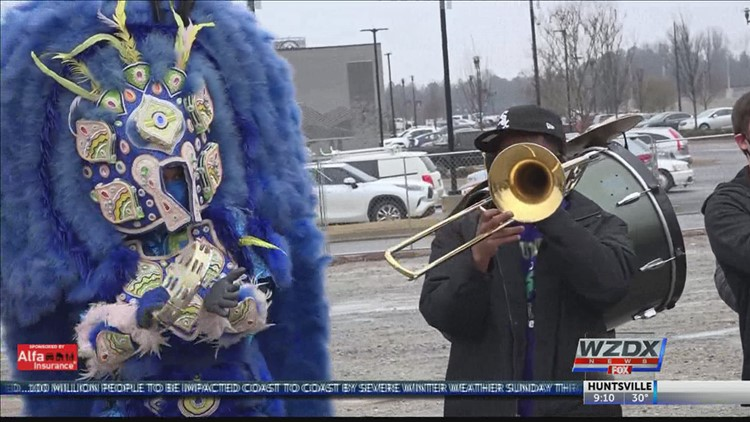 Cold weather and the COVID pandemic couldn't stop Huntsville's MidCity Mardi Gras