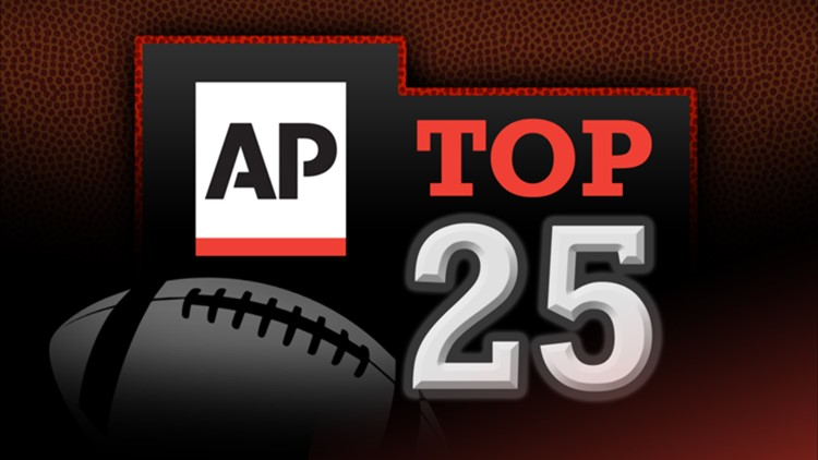 Alabama remains on top of latest AP Top 25 poll