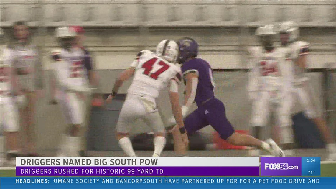 Parker Driggers named Big South Football Offensive Player of the Week