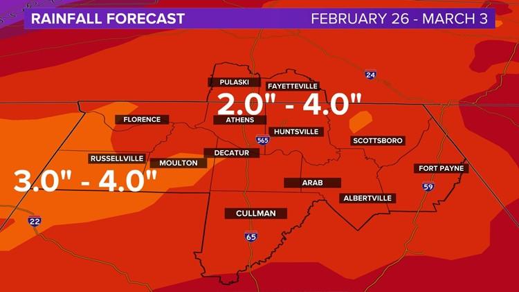 Heavy Rain Through Next Week