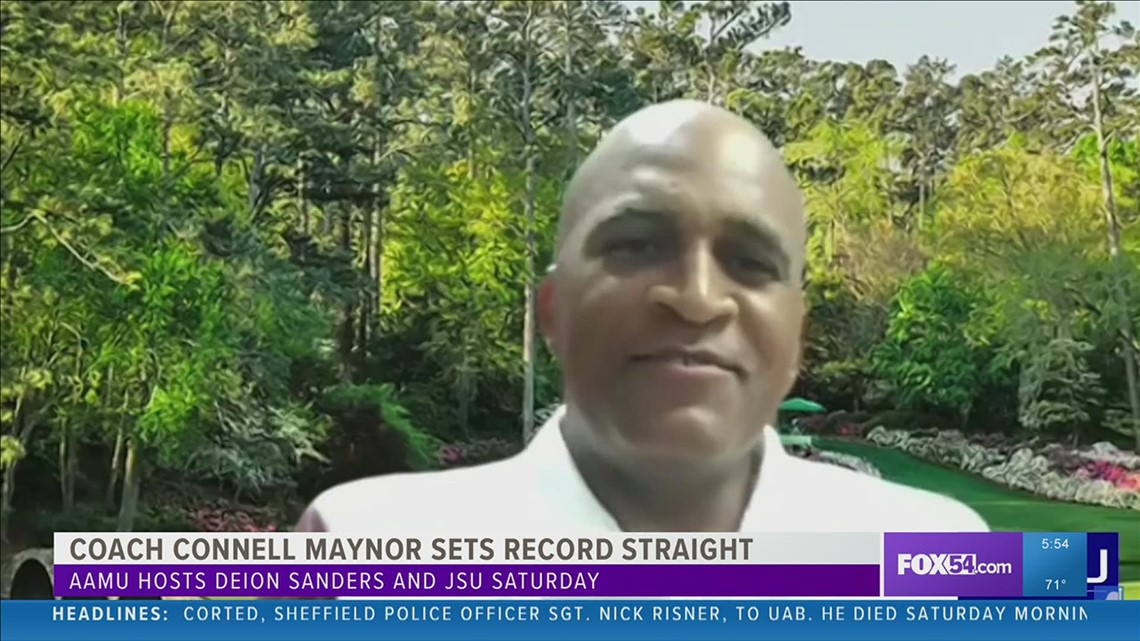 AAMU Head Coach Connell Maynor sets record straight ahead of matchup vs. Deion Sanders and JSU