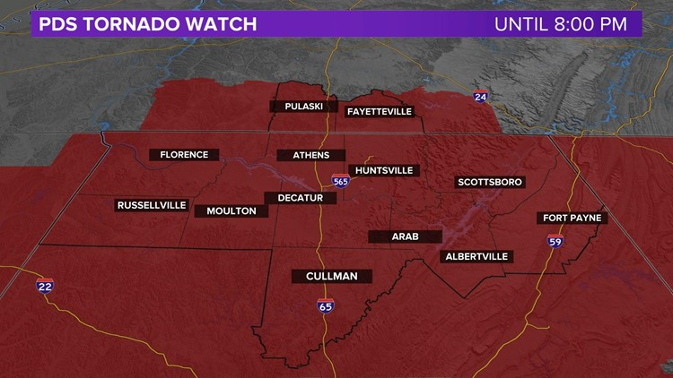 PDS (Particularly Dangerous Situation) Tornado Watch Issued