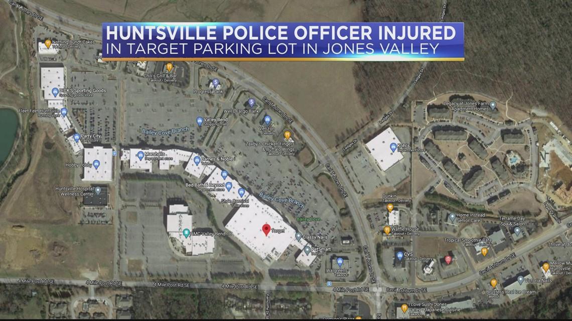 Huntsville police officer injured in Target parking lot on Carl T. Jones