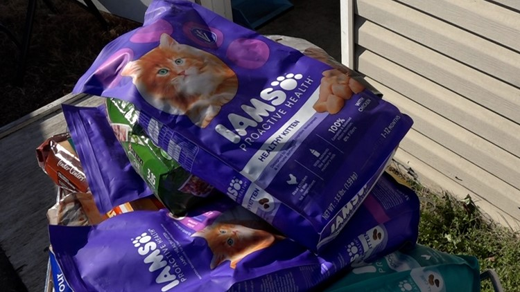 In an effort to cut down on pet surrenders, one local organization is giving out pet food for free