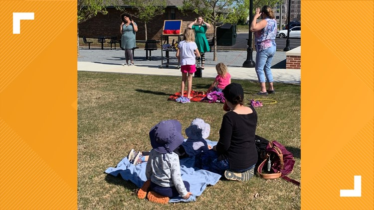 Public library hosts outdoor storytimes