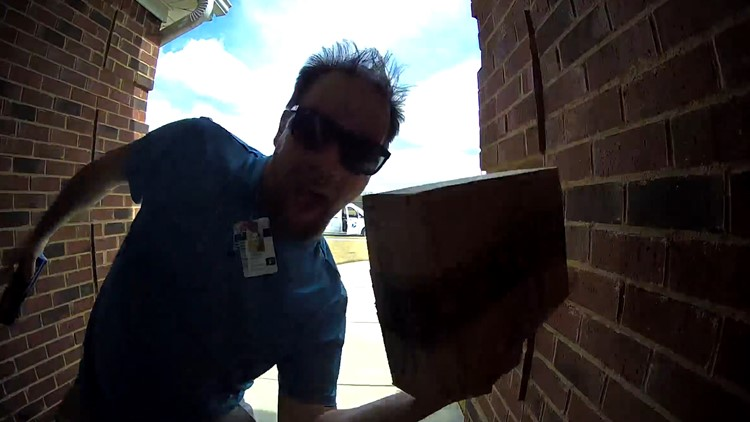 Mailman delivers smiles with cool moves caught on doorstep cameras