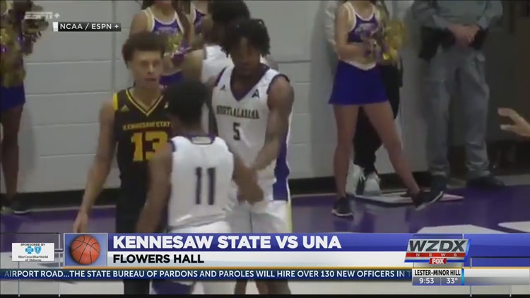 UNA ends five game skid with a 65-46 win over Kennesaw State (Highlights)