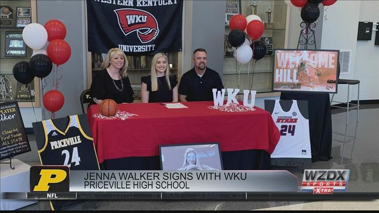 Jenna Walker signs NLI with Western Kentucky