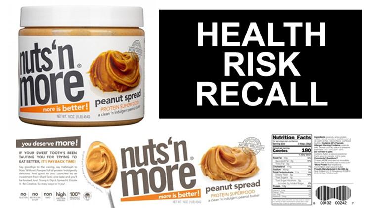 Nuts 'N' More peanut spread recalled