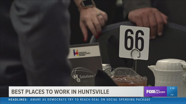 Huntsville-Madison County Chamber announces 2021 'Best Places To Work' award winners