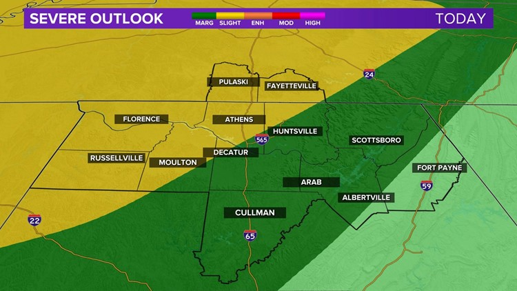 A Slight Risk for Severe Storms