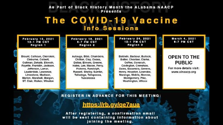 Alabama NAACP hosts online information, Q&A sessions about COVID vaccines