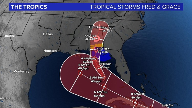 Two tropical storms impacting the Gulf of Mexico this week