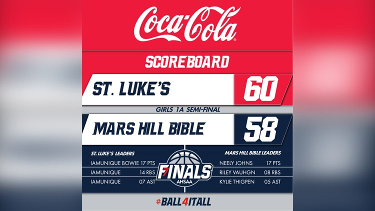 Mars Hill falls to St. Luke's, 60-58 in the Class 1A semifinals