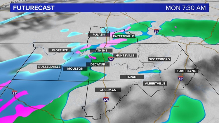 An Update on Monday's Snow Potential